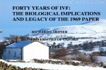 Forty Year of IVF: The Biological Implications and Legacy of the 1969 Paper