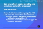 Can law reflect social morality and anticipate scientific progress?